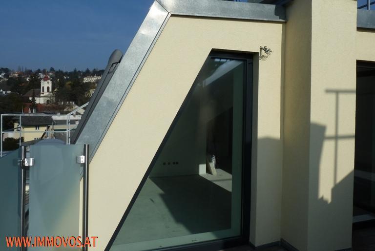 Ausblick von der hofseitigen Terrasse