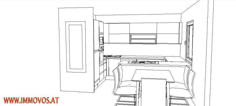 Entwurf für eine Küche
