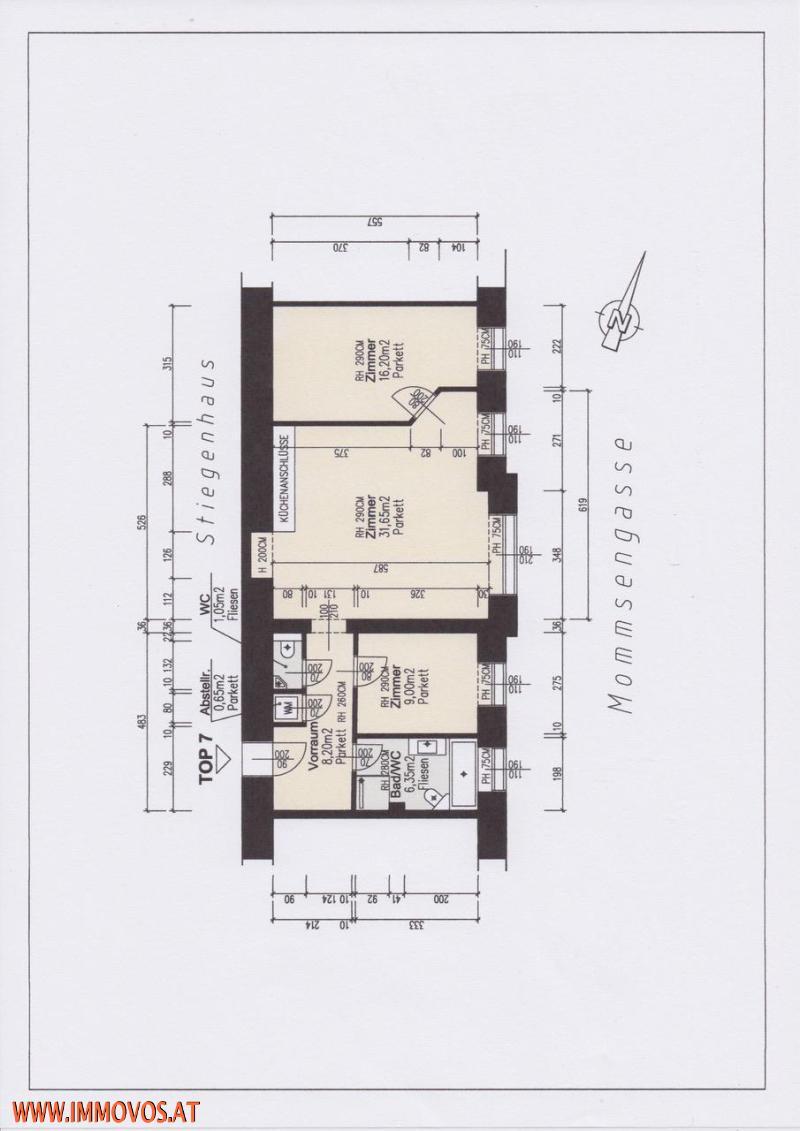 Kaufrücktritt - Ihre Chance !!! Stilvoll wohnen im Palais - Eleganter Erstbezug in Zentrallage - 3 Zimmer Wohnung im Palais Mommsen /  / 1040Wien 4.,Wieden / Bild 6