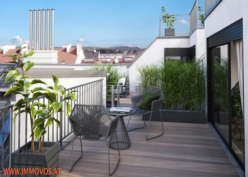 Blick auf Terrassen