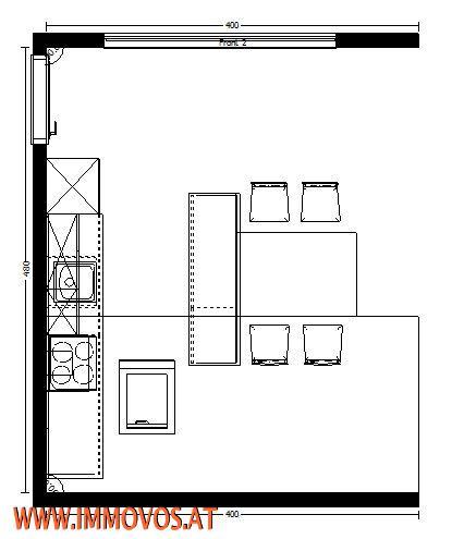 Küche neu: Planung, Draufsicht