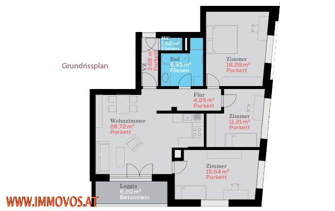 ++ REIZENDE Familienwohnung: sonnig, schlossparknah, Anlage-geeignet. /  / 1120Wien 12.,Meidling / Bild 1