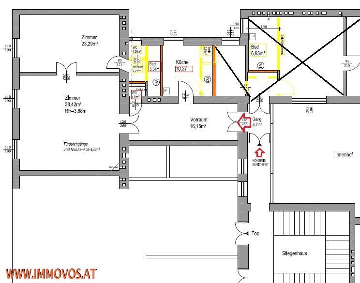gbild -- Prestigious old-style apartment in splendid building near Ringstraße /  / 1010Wien 1.,Innere Stadt / Bild 3
