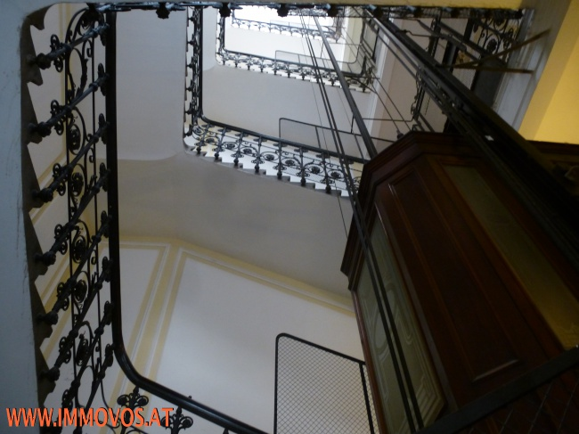 staircase with elevator