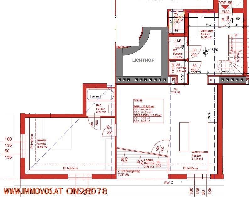 jpgcnt ---- ***4 - Zimmer MAISONETTE im DACHGESCHOSS mit TERRASSEN*** /  / 1200Wien 20.,Brigittenau / Bild 8