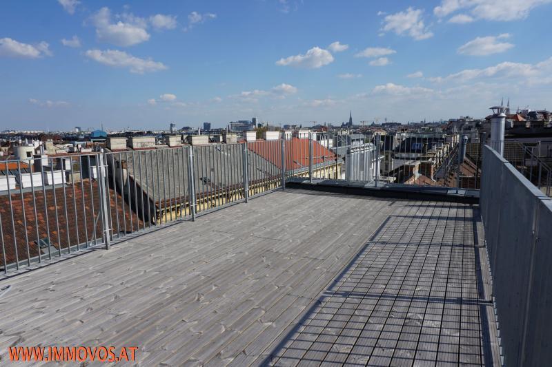Panoramablick von der Terrasse in Richtung Innenstadt