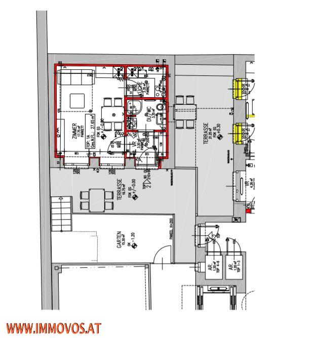 +MINIHAUS+ 27,65m2-HOFGEBÄUDE-WOHNATELIER PLUS TERRASSE UND GARTEN MIT 37m2-1150 WIEN /  / 1150Wien 15.,Rh-Fh / Bild 7