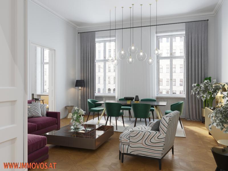 Prestigious old-style apartment in splendid building near Ringstraße and parliament