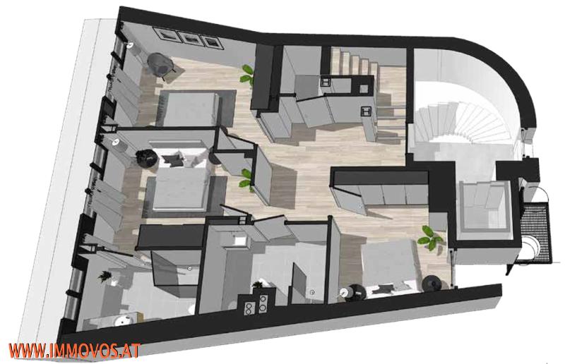 Genießen Sie dieses fantastische Panorama: Penthouse-Erstbezug mit Dachterrassen-Traumblick + Stellplatz im Haus /  / 1090Wien 9.,Alsergrund / Bild 9