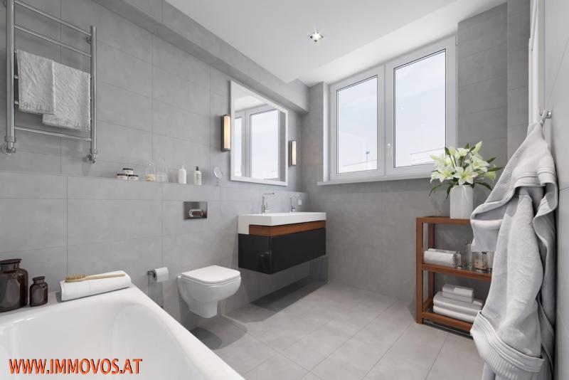 Rendering - Badezimmerausstattung als Beispiel