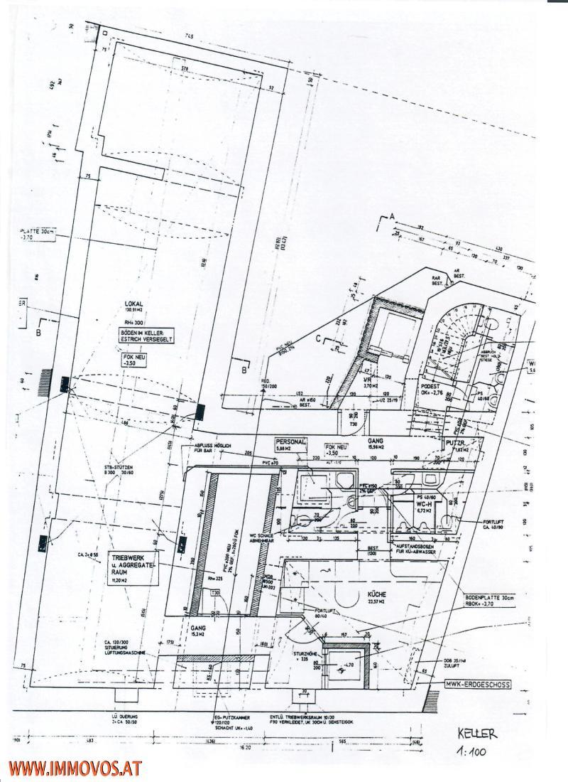 Plan des Kellerlokales