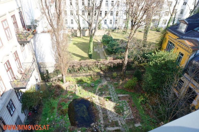 Blick in die Innenhof-Gärten