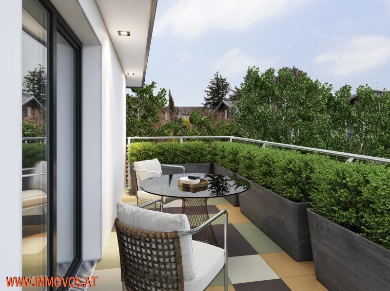 Ausblick von der Terrasse (Rendering)