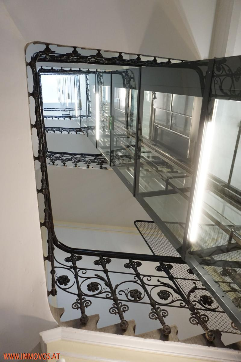 modern elevator withour stairs in between