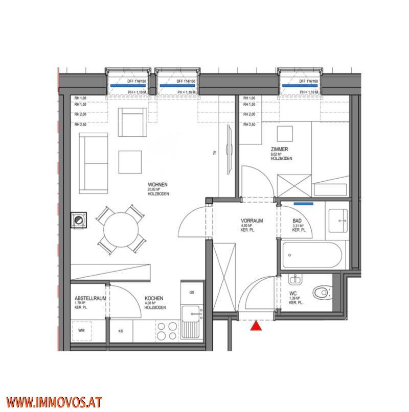 Zweitbezug! moderne 2-Zimmer DG-Wohnung *U3 vor der Tür! /  / 1160Wien 16.,Ottakring / Bild 4