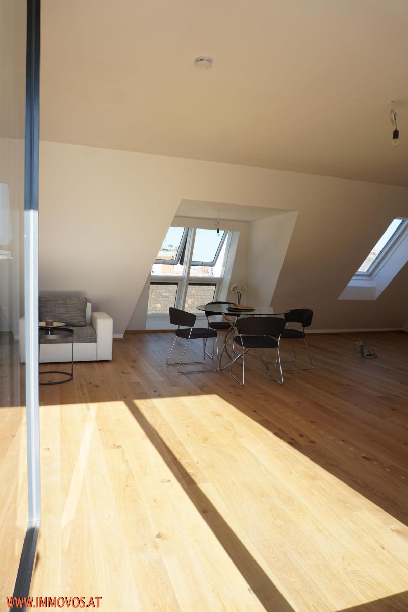 360 Grad Rundgang: Fantastisches Panorama von Penthouse-Terrasse - 4 Zimmer Erstbezug mit Dachterrassen-Traumblick + Stellplatz /  / 1090Wien 9.,Alsergrund / Bild 4