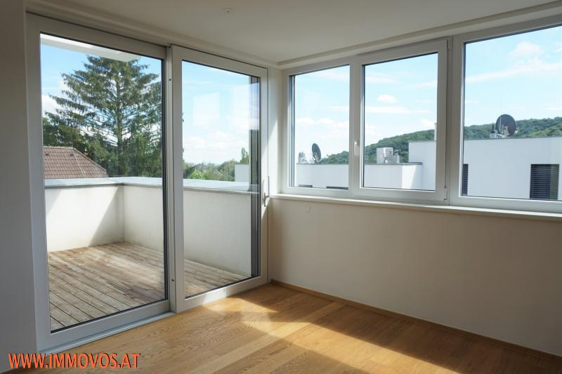 Zugang vom Wohnraum zur Terrasse