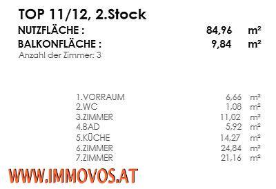 ***3-ZIMMER IN HOFRUHELAGE MIT BALKON - ERSTBEZUG*** /  / 1020Wien 2.,Leopoldstadt / Bild 8