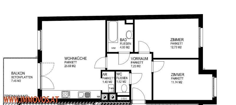 FAMILIENHIT* IDEAL aufgeteilte 3 - Zimmerwohnung mit BALKON in einer tollen INFRASTRUKTUR* U4/U6 vor der Tür! /  / 1120Wien 12.,Meidling / Bild 0
