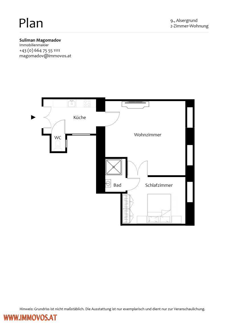 STILALTBAU // BESONDERE LAGE // 2 ZIMMER /  / 1090Wien 9.,Alsergrund / Bild 10
