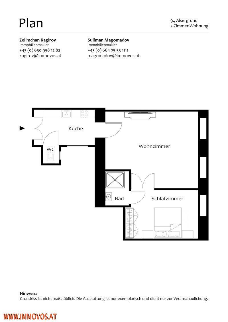 GEMÜTLICHE 2 ZIMMER WOHNUNG // ZENTRAL // RUHIG /  / 1090Wien 9.,Alsergrund / Bild 11