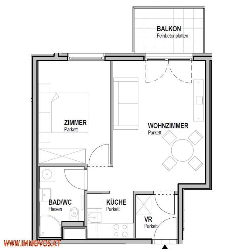 U4 vor der Tür! 2. Bezug* moderne 2-Zimmerwohnung mit Balkon & Innenhof* Nahe zu Schloss Schönbrunn!  /  / 1150Wien 15.,Rh-Fh / Bild 7
