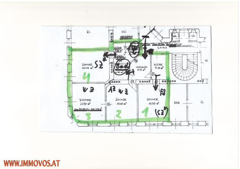 4 Zimmer++unbefristet++Hofgarten /  / 1120Wien 12.,Meidling / Bild 8