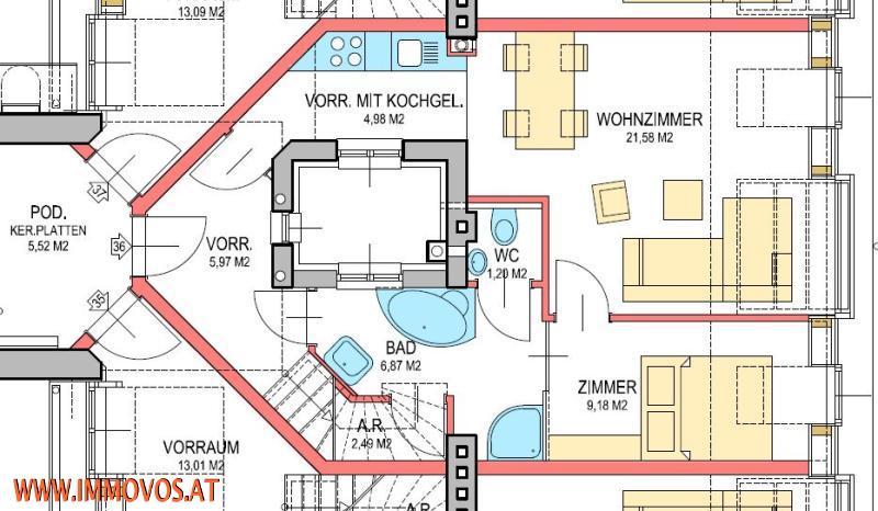 Virtueller Rundgang: ERSTBEZUG! modernes Wohnen * KLIMANEUTRALE DACHGESCHOSSWOHNUNG mit PANORAMABLICK über Wien*  /  / 1030Wien 3.,Landstraße / Bild 5