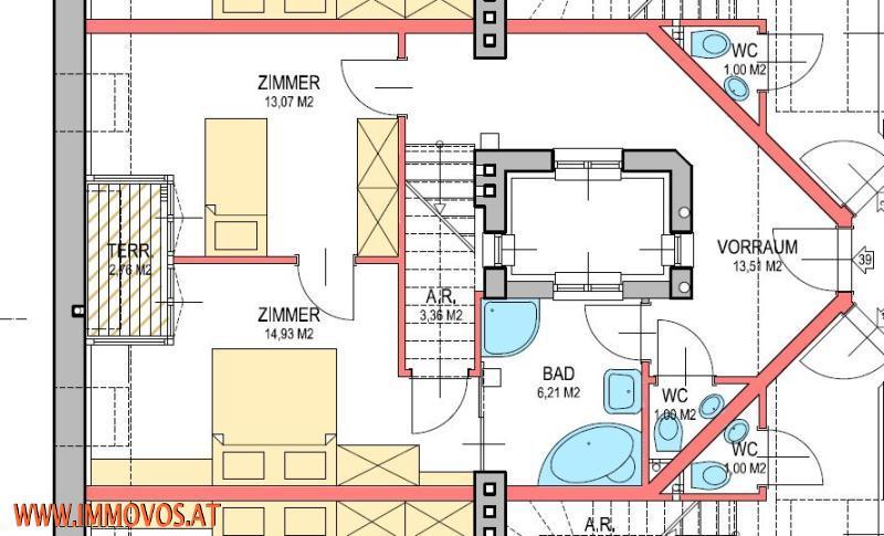 Anlegerwohnung/freier Mietzins! ERSTBEZUG! KLIMANEUTRALE* moderne DG-Wohnung mit 2 Terrassen mit einen TRAUMHAFTEN BLICK über die Dächer Wiens* /  / 1030Wien 3.,Landstraße / Bild 3