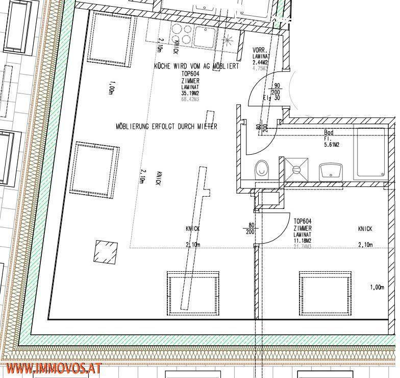 S/604 - All-inklusive-Miete! moderne DG-Wohnung in TOP Zustand* Nahe U3 Station Hütteldorfer Straße* /  / 1140Wien 14.,Penzing / Bild 5