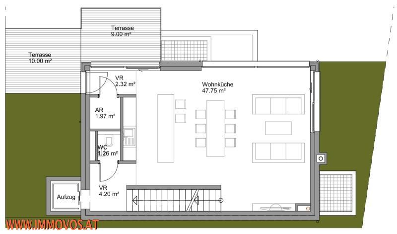 Plan vom Wohnbereich