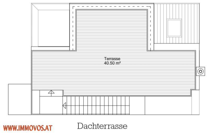 Plan der Dachterrasse