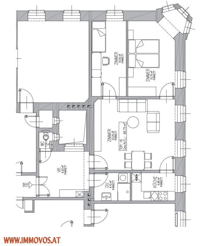 +ZU-HAUSE AM AUGARTENSPITZ-KARMELITERVIERTEL-THE PLACE TO BE-69M2-KERNSANIERTE 3-ZIMMERWOHNUNG NÄHE U2 TABORSTRAßE,1020 WIEN /  / 1020Wien 2.,Leopoldstadt / Bild 1