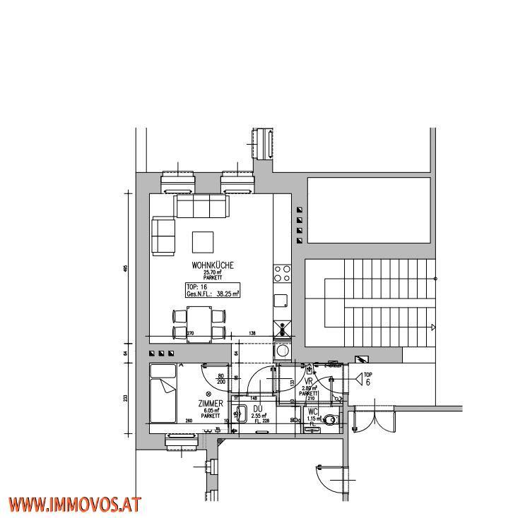 +NEU+UNSANIERTE-38,25M2-2 ZIMMERWOHNUNG IM KARMELITERVIERTEL-AUGARTEN, 1020 WIEN /  / 1020Wien 2.,Leopoldstadt / Bild 2