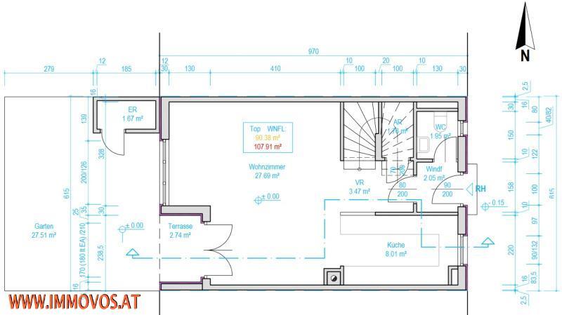 Bad mit WC im Dachstudio