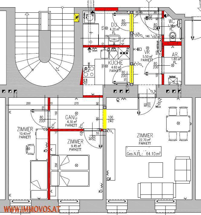*** PERFEKT GESCHNITTENE 3-Zimmer-Altbauwohnung nächst U2: ERSTBEZUGGLEICH!!! *** /  / 1220Wien 22.,Donaustadt / Bild 9