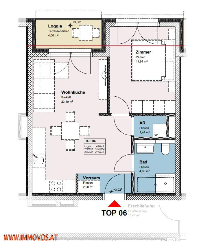 2-Zimmer-Wohnung mit Loggia - BEZUGSFERTIG SEP. 2021 - ENDNUTZER UND ANLEGER /  / 1210Wien 21.,Floridsdorf / Bild 7