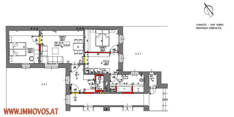 ++NEU++ ZU HAUSE AM DIEPOLDPLATZ, 73M²-KERNSANIERTE 3-ZIMMERWOHNUNG,1170 WIEN /  / 1170Wien 17.,Hernals / Bild 1