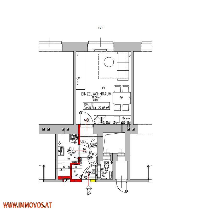 ++BRANDNEU++ERSTBEZUG-STARTER-PENDLERWOHNUNG NÄHE DR.-JOSEF-RESCH-PARK-HERNALSER HAUPTSTRAßE,1170 WIEN /  / 1170Wien 17.,Hernals / Bild 6