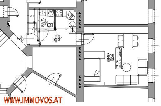 +GUTER GRUNDRISS+3-ZIMMERWOHNUNG NÄHE U6 FLORIDSDORF, 1210 WIEN /  / 1210Wien 21.,Floridsdorf / Bild 9
