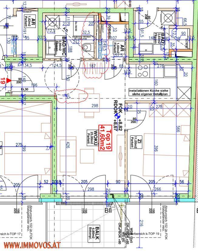 +ANKOMMEN+WOHNFÜHLEN ++ 41m²-2-ZIMMERWOHNUNG PLUS 6,80M² HOFSEITIGER BALKON NÄHE U3  HÜTTELDORFER STRASSE, 1140 WIEN /  / 1140Wien 14.,Penzing / Bild 7